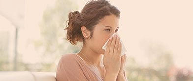girl with sinusitis